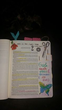 GENESIS 1 ❤ #bibleartjournaling #journalingbible #faith #bible