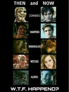 80's Horror Movies The Walking Dead still has creepy gross zombies, but I miss when vampires were beasts and didn't sparkle.