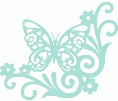Silhouette Online Store - View Design #59143: hippie corner butterfly