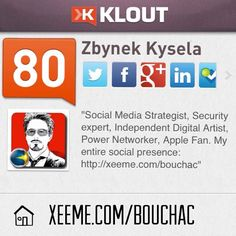 Let's connect across the networks! My entire social media presence: http://xeeme.com/bouchac  #klout #xeeme #socialmedia