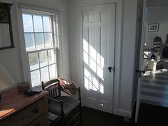 Sunlight on closet door in Edward Hopper's Truro studio bedroom. Photo taken by Philip Koch during his 14th residency in Hopper's studio in Falll of 2012