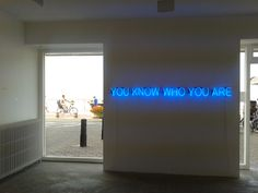 'You know who you are' Neon by artist Tim Etchells