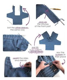 Knitted Baby Jacket – Free Pattern & Tutorial : Knitted Baby Jacket crossed in front – Baby Knits – [ EASY Pattern & Tutorial ] Baby Boy Knitting, Baby Cardigan Knitting Pattern, Sweater Knitting Patterns, Knitting For Kids, Knitting Stitches, Knitted Baby, Baby Knits, Knit Cardigan, Strick Cardigan