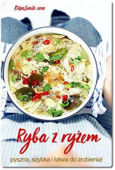 Ryba z ryżem Dzisiaj coś prostego a więc ryba z ryżem. Daję słowo, że ryba z ryżem jest na tyle szybka do przygotowania, bezproblemowa i wyjątkowo smaczna, że możecie ja wstawić dosłownie 20 minut przed przybyciem