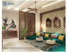 Living Room Partition Design, Room Partition Designs, Living Room Sofa Design, My Living Room, Living Room Designs, Drawing Room Interior Design, Indian Interior Design, Home Room Design, Bedroom Interior Design
