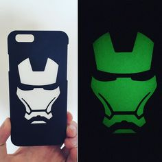 New glow in the dark Ironman iPhone case available at our etsy shop. See link in bio! #ironman #civilwar #iphone #case #geek #gamer #gaming #3dprinting #nerdy #iphone6 #avengers #comics by the_printing_pavilion
