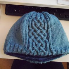 Ravelry: Fraoch1970's Fraoch's Lined hat with I-Cord and Celtic cabling