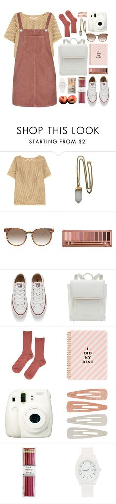 """""""160816"""" by rosemarykate ❤ liked on Polyvore featuring Diane Von Furstenberg, Lacey Ryan, Topshop, Thierry Lasry, Urban Decay, Converse, ban.do, Fuji, Forever 21 and i am a"""