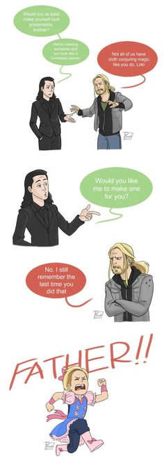 Thor and Loki by pencilHeadno7.deviantart.com on @DeviantArt