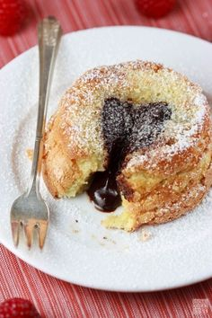 Vanilla Bean Cakes with Molten Chocolate Framboise Ganache - 15 Molten Lava Cakes You Could Fall Hard For
