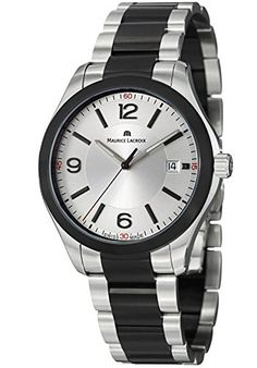 Men's Wrist Watches - Maurice Lacroix Miros Mens Silver Dial Black PVD Stainless Steel Watch MI1018SS002131 * Check out the image by visiting the link. (This is an Amazon affiliate link)