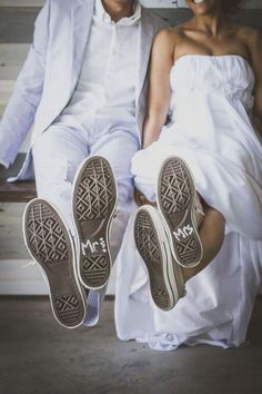 The bride and groom painted the bottom of their wedding Converse to read Mr and Mrs, so cute! (scheduled via http://www.tailwindapp.com?utm_source=pinterest&utm_medium=twpin&utm_content=post88596505&utm_campaign=scheduler_attribution)