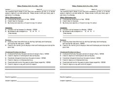 Weekly Progress Report Template For Elementary Students  Students