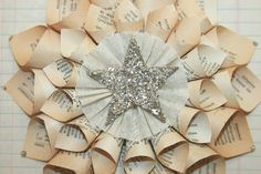 Paper Cone Wreath Vintage French Dictionary by luckygirlgoods, $10.95