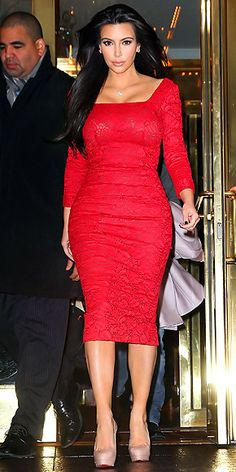 As obnoxious and ridiculous as Kim Kardashian is, I LOVE that she rocks her curves to the fullest. Curves are so much sexier than being skinny.