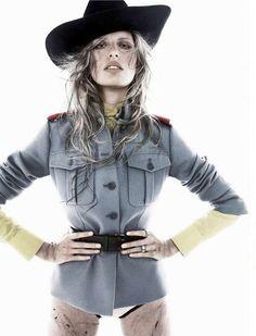 Dirtied Model Spreads - Tom Munro Shoots a Muddy Karolina Kurkova for Vogue Spain January 2011 (GALLERY)