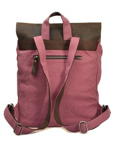 New Canvas And Leather Satchel Type Backpack Messenger Holdall School Camera Bag Backpacks For College