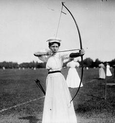 1900 Women's Archery - Marion Jones took home the bronze!