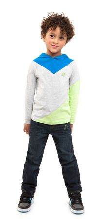 Colorblock Denim Outfit - PIN TO WIN! Enter the February Fresh Pinterest Contest for a chance to win a brand-new FabKids wardrobe! Ends 2/19#FabKidsFebFresh @FabKids