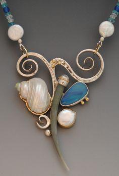 turban and tusk shell necklace - barbara umbel jewelry design