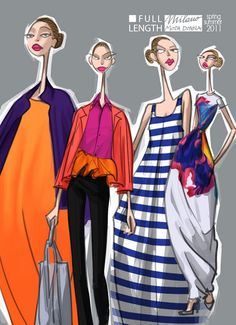 Jil Sander S/S 2011 by Studio Fantasma Illustration.Files: S/S 2011 Collections by Studio Fantasma