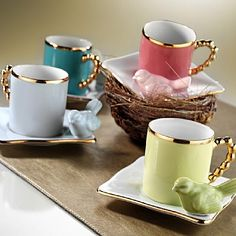 Kütahya Porselen Limagos Kuşlu Kahve Fincan Takımı Coffee Cup Set, My Coffee, Coffee Time, Tea Tins, China Tea Cups, Fun Cup, Tea Art, Dish Sets, Turkish Coffee