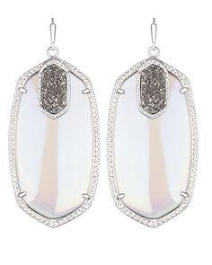 Darcy Statement Earrings in Platinum Orbit - Kendra Scott Jewelry. Coming October 15!