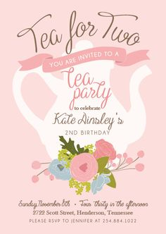 Printable tea party baby shower invitation by PrettiestPrintShop