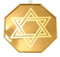 Espelho Estrela de Davi 12cm