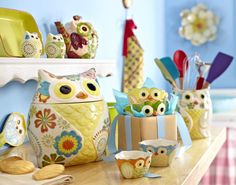 Our fun owl kitchen accessories add cuteness wherever they go