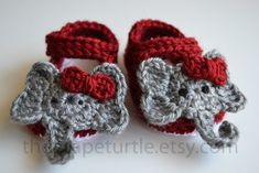 Baby Infant Girl Shoes, Crochet Baby Shoes, Alabama Crimson Tide Baby Shoes, Baby Booties, Newborn to 24 months, Photo Prop, Red/White on Etsy, $25.00