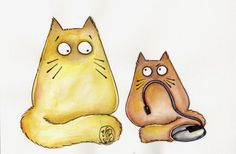 "Cats by Maria van Bruggen - Pookie the Cat ""NOT THAT MOUSE""  - Cats with attitude"