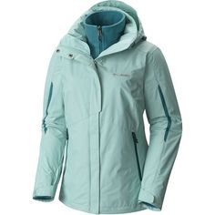 You'll find the Columbia Women's Bugaboo Interchange Jacket far more versatile than most ski jackets. Zip out the microfleece liner when you only need its Omni-Tech  waterproof protection for rainy summer strolls, and zip the liner back  in when it gets cold out. The liner's Omni-Tech thermal reflective  lining uses silver dots to reflect your body heat back to you, and its soft microfleece is a great choice for shoulder season, too. The Bugaboo also features zippered pockets and ...