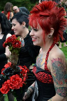 A mohawk match made in punk rock heaven | Offbeat Bride,  Go To www.likegossip.com to get more Gossip News!