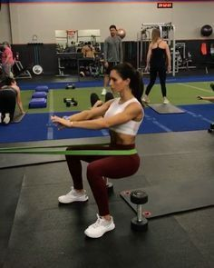 "11.3k Likes, 141 Comments - Alexia Clark (@alexia_clark) on Instagram: ""Attach your resistance band to something heavy like a squat rack or weight rack. Make sure it is…"""