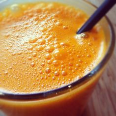 JUICE BREAK.  carrot. ginger. lime. coconut butter. just because.