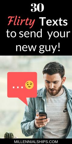 Get your text game on with these 30 flirty texts! Millennialships has dating advice and self care info for millennial women. Tags: texts, f. Flirty Texts For Him, Flirty Quotes For Him, Get A Boyfriend, Boyfriend Texts, Perfect Boyfriend, Online Dating Advice, Dating Tips For Women, Text Games, Messages For Him
