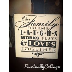 Our family sign by Eventuallycottage on Etsy
