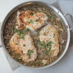 Whoever came up with the idea of slicing up some mushrooms and adding some slightly-sweet marsala wine to chicken was genius. This Paleo and gluten-free ver