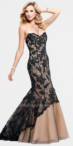 Black Nude Lace Formal Gowns by Scala......Price - $540.00 - sgR7e3RR
