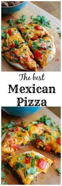 A Mexican Pizza is the perfect back-to-school dinner for your family that is easy to make, packed with flavor and a kid and adult favorite. Packed with protein and calcium, you can feel good putting this meal on your table! // A Cedar Spoon