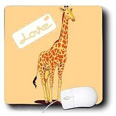 PS Creations - Orange Giraffe - Love - Cute Animals - Fun Art - Mouse Pads by 3dRose, http://www.amazon.com/gp/product/B008CIRS1G/ref=cm_sw_r_pi_alp_1H.6pb0Y8K2M9