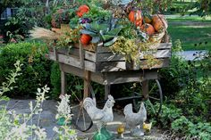 Harvest Cart made from Old Pallets and Reclaimed Iron Wheels :: Hometalk