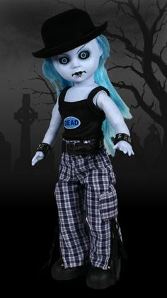 Living Dead Dolls Series 9 B&W Exclusive Blue Doll - Special Order Halloween Doll, Spooky Halloween, Scary Dolls, Living Dead Dolls, Gothic Dolls, Bjd Dolls, Barbie Dolls, Designer Toys, Scary Movies