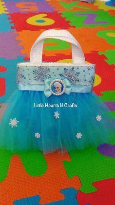 Elsa Frozen Princess Inspired Tutu Purse by LittleHeartsNCrafts, $9.50 party favor