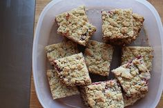 Cranberry Crumb Bars with Mulling Spices Recipe on Yummly