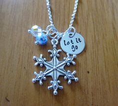 "Frozen Inspired Elsa ""Let It Go"" Frozen Necklace by WithLoveFromOC. Frozen gift, Frozen jewelry. Great Frozen Party Favor! Swarovski Crystal."