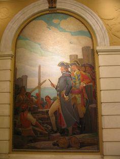 Staten Island Borough Hall - 'The British Fortify Fort Hill, 1776'      Staten Island Borough Hall