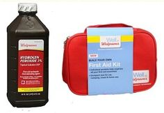 4 Hydrogen Peroxides, 2 First Aid Kits just $.98 at Walgreens! Exp. 6/16/13