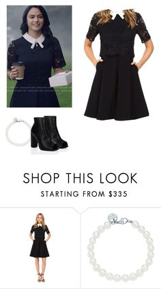 """""""Veronica Lodge - Riverdale"""" by shadyannon ❤ liked on Polyvore featuring Ted Baker, Tiffany & Co. and SpyLoveBuy"""